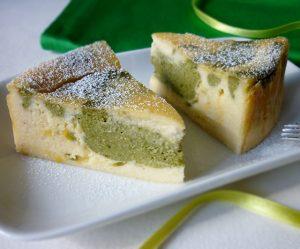 Matcha-Maracuja-Topfen-Kuchen
