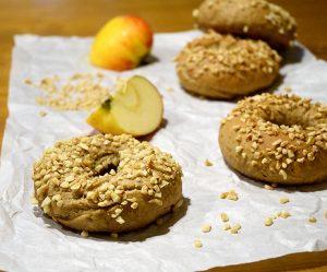 Apfel-Zimt-Bagels