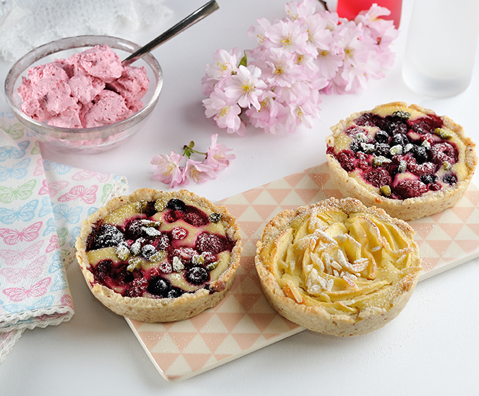 Mandel-Cheesecake-Tartelettes