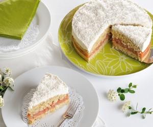Rhabarber-Kokos-Torte