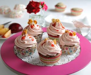 Mohn-Pflaumen-Cupcakes