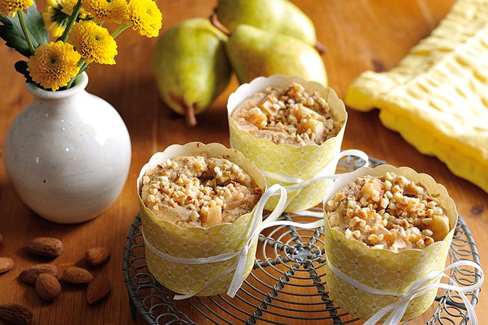 Glutenfreie Birnen-Mandel-Hirse-Muffins