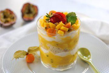 Mango-Passionsfrucht-Topfen-Tiramisu