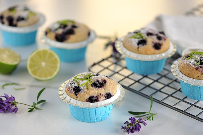 Heidelbeer-Limetten-Muffins