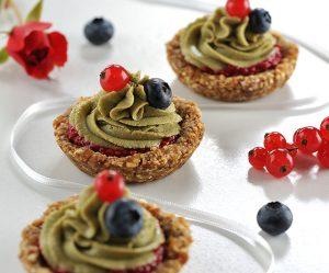 Matcha-Limetten-Tartelettes
