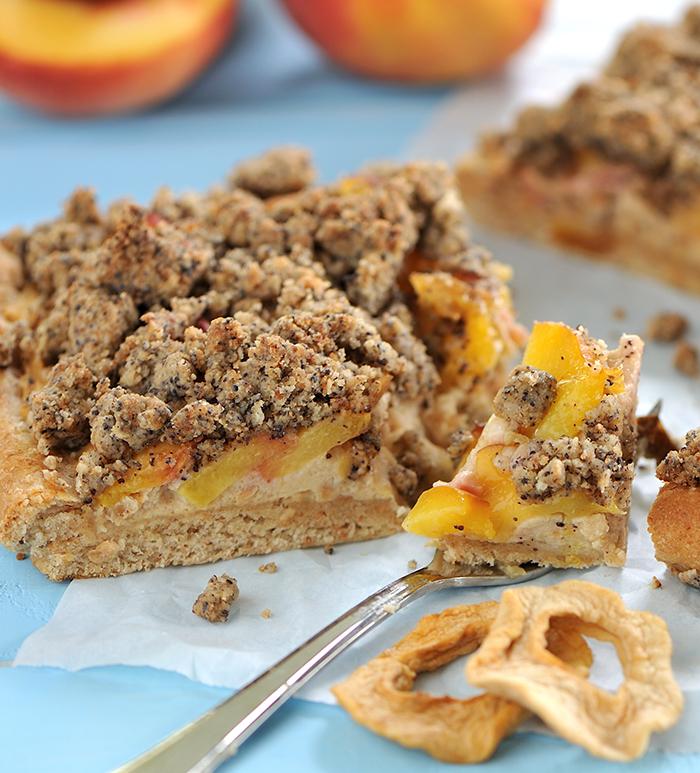 Pfirsich-Topfen-Kuchen