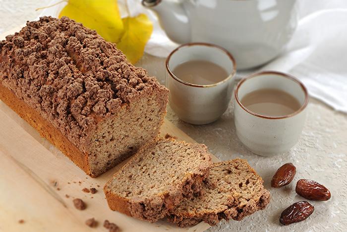 Chai-Dattel-Kuchen mit Schokostreuseln