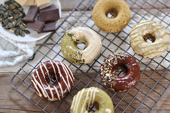 Kürbiskern-Donuts