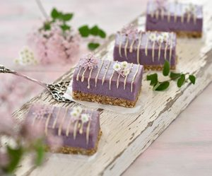 Lila-Süßkartoffel-Kokos-Cheesecake