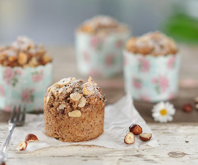Kastanien-Haselnuss-Muffins