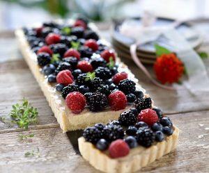 Beeren-Vanillecreme-Tarte