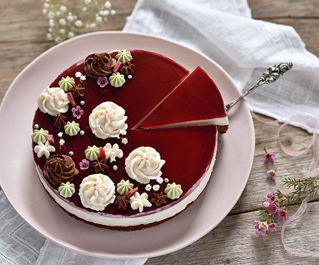 Schoko-Himbeer-Sauerrahm-Torte