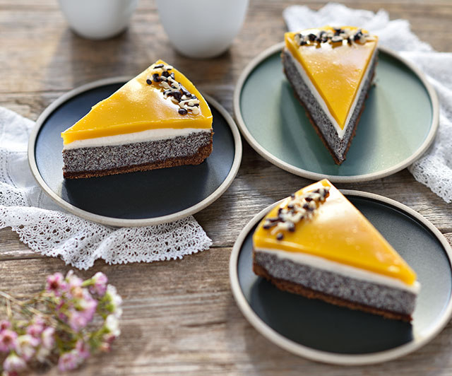 Mango-Mohn-Kuchen
