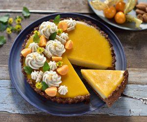 Orangen-Vanille-Tarte mit Marzipancreme