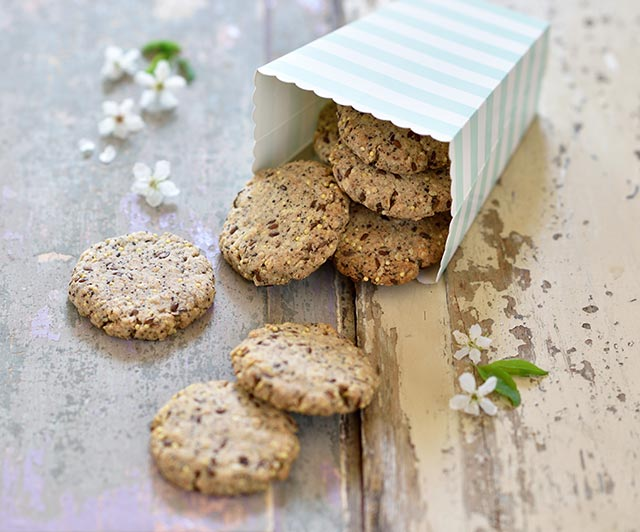 Knusper-Cookies mit Hirse und Mohn