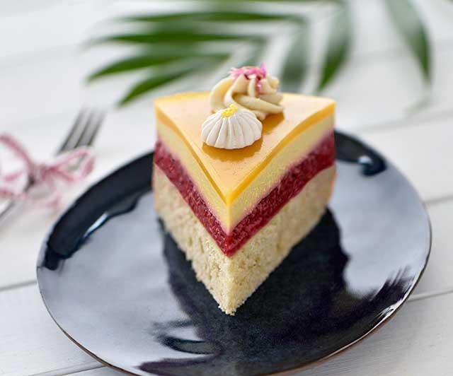 Himbeer-Mango-Mousse-Kuchen