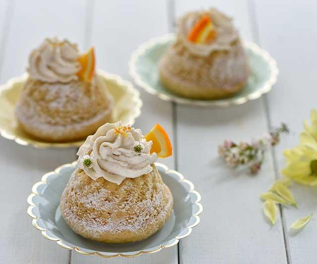 Mini-Orangen-Gugelhupfe mit Orangen-Frischkäse-Creme